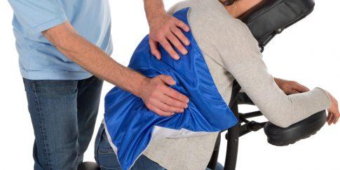 Massagedoekje voor massage onderrug.